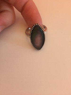 Ring schwarz oval vintage schwarz S