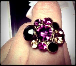 Ring sehr schöne Farben in Swarovskistil