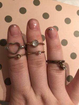 Bijou Brigitte Gouden ring goud-wit Edelstaal