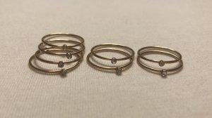 Ring-Set, Gold mit Stein