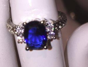 Ring Silber 925 mit Stein und Stempel