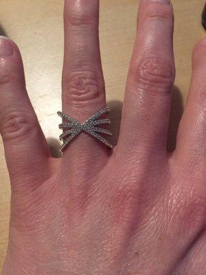 Ring silber Glitzersteine