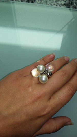Ring silber mit Perlen