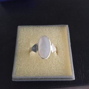 Ring Silber mit Perlmutt Stein Gr.58