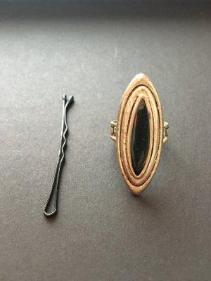 Zilveren ring lichtgrijs-zwart