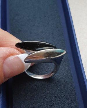 Ring silber schwarz Marke Breil