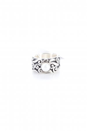 Ring silver black pearl