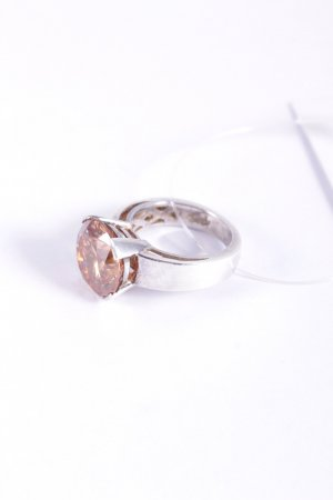 Ring silberfarben-apricot Glanz-Optik
