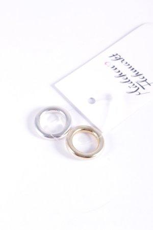 Ring silberfarben-goldfarben Glanz-Optik