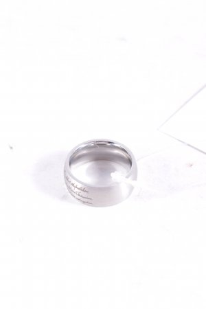 Ring silver-colored simple style