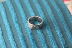Ring, Silberring, mit 11 kleinen Brillis