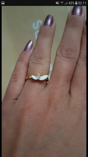 Ring Skagen gold rosegold perlmutt NEU mit Dose