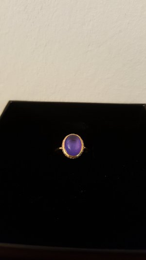 Silver Ring gold-colored-purple