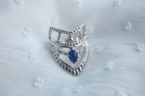 Anello d'argento multicolore Materiale sintetico