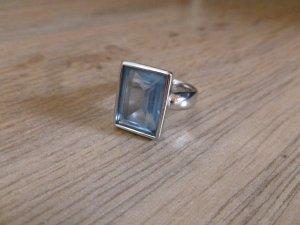 Ring Stein silber blau Pierre Lang 5 neu