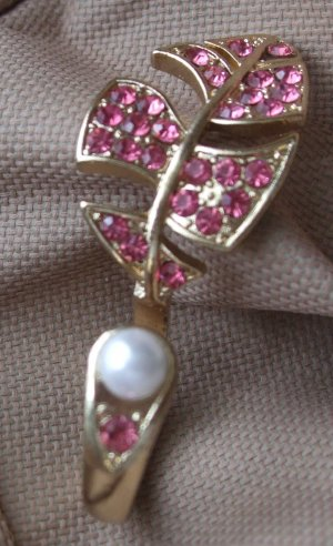 Ring Strass Perle - Zweifinger-Ring