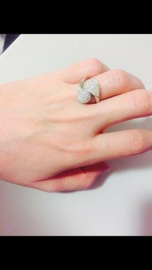 Ring svarivski silver