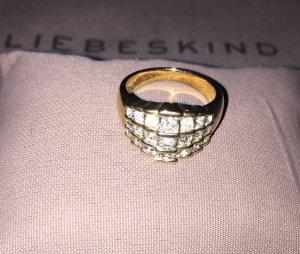 Ring vergoldet mit Zirkonia Steinchen