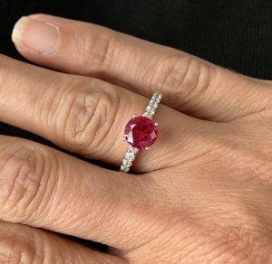 diamonfire Zilveren ring zilver-rood Zilver