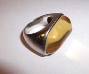 RING VON ESPRIT--   1  MAL getragen----massiv silber mit farbstein--top