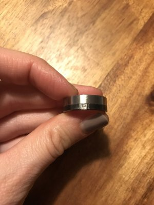 Fossil Silver Ring black-silver-colored