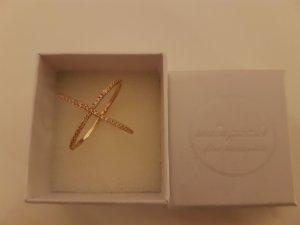 Ring von Mainpunkt, wunderschöner X-Ring Xena, 925 Silber Rosegold