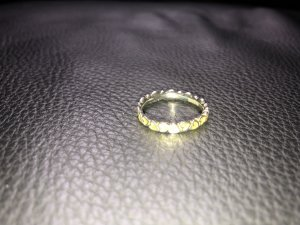 Ring von Spinning in der Größe XL entspricht der Ringgröße 58