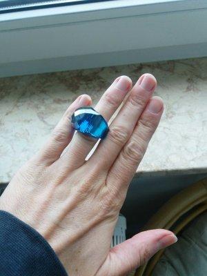 Ring von Swarovski blau