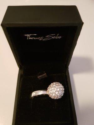 Ring von thomas sabo echt silber mit einer Kugel