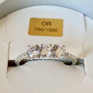 Ring Weißgold 750 18K Gr.53/54 NEU