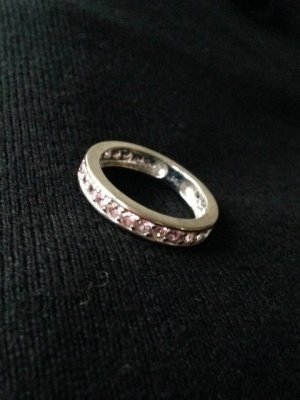 Ring Weissgold Memory Ring rosa Saphiere