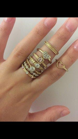 Gouden ring roségoud-brons