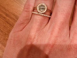 Fossil Gold Ring pink-rose-gold-coloured