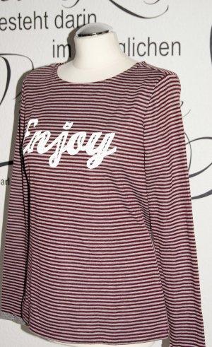 s.Oliver Stripe Shirt bordeaux-light grey