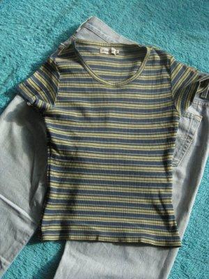 Ringel-T-Shirt aus Baumwollstretch Größe S
