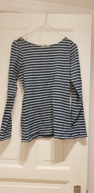H&M Conscious Collection Gestreept shirt korenblauw-wit