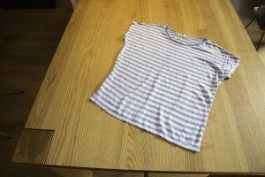 Ringelshirt blau weiß aus Leinen von Esprit Größe M oversized geschnitten