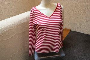 Gestreept shirt rood-wit Katoen