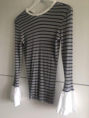 Esprit Gestreept shirt wit-donkerblauw