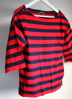 Ringelshirt schwarz/rot. Von Lauren by Ralph Lauren