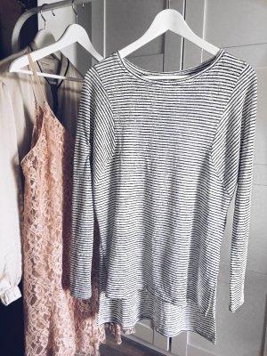 Ringelshirt schwarz weiß langarm Shirt zara Sommer