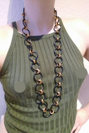 Vintage Link Chain black-gold-colored