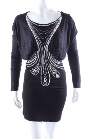 Ringspun stretch dress with beading