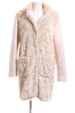Rino & Pelle Kunstfellmantel creme-pink Elegant