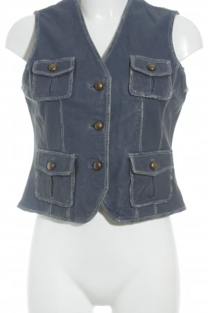 Rino & Pelle Leather Vest blue extravagant style