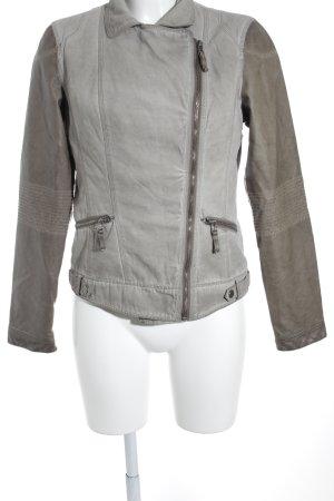 Rino & Pelle Übergangsjacke graubraun-hellbeige Casual-Look