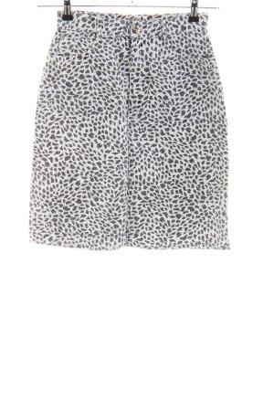 Rio Jupe en jeans gris clair-noir imprimé allover style festif