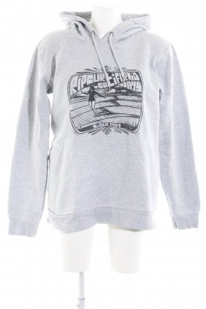 Rip curl Hooded Sweater grey-light grey flecked skater style