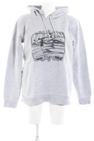 Rip curl Capuchon sweater grijs-lichtgrijs gestippeld skater stijl