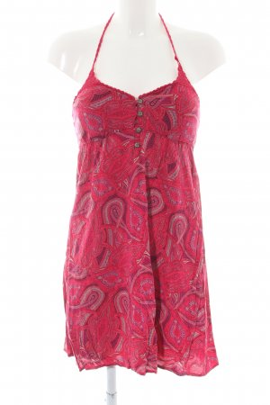 Rip curl Halter Dress red abstract pattern casual look